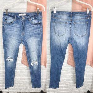 KanCan Estilo Deconstructed Skinny Jeans